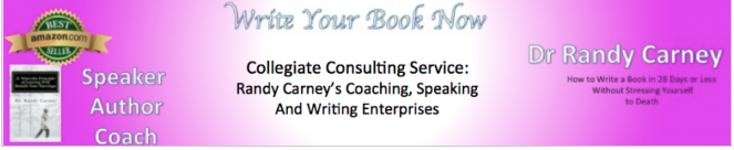 Collegiate Consulting Service: Dr. Randy Carney's Writing, Speaking and Coaching Enterprises
