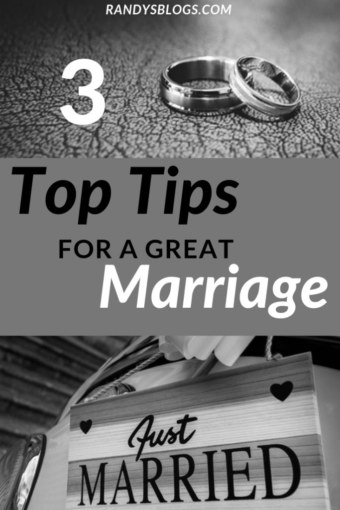 3 top tips for a great marriage